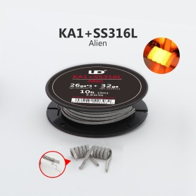 CLAPTON WIRE  [26ga*3+32ga]*9Ft KA1+SS316 3.6ohm/m