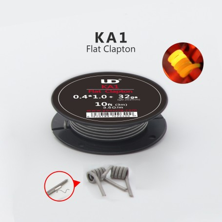 CLAPTON WIRE [0.4*1.0+32ga]*10Ft KA1 3.5ohm/m